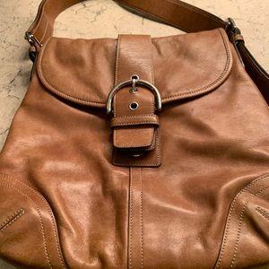 Coach Soho brown leather shoulder messenger bag